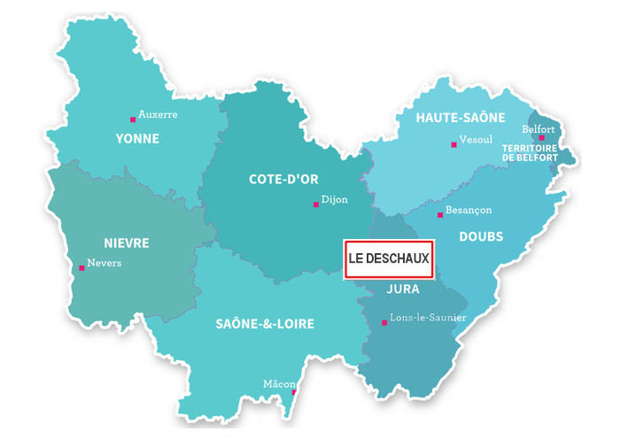 Le Deschaux commune région Bourgogne Franche-comté
